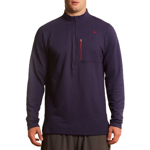 Mens Tasc Performance Explorer 1/4-Zip Fleece Long Sleeve 1/2 Zip Technical Tops - True Navy ...