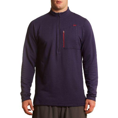 Mens Tasc Performance Explorer 1/4-Zip Fleece Long Sleeve 1/2 Zip Technical Tops - True Navy ...