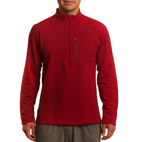 Mens Tasc Performance Explorer 1/4-Zip Fleece Long Sleeve 1/2 Zip Technical Tops - True Red ...