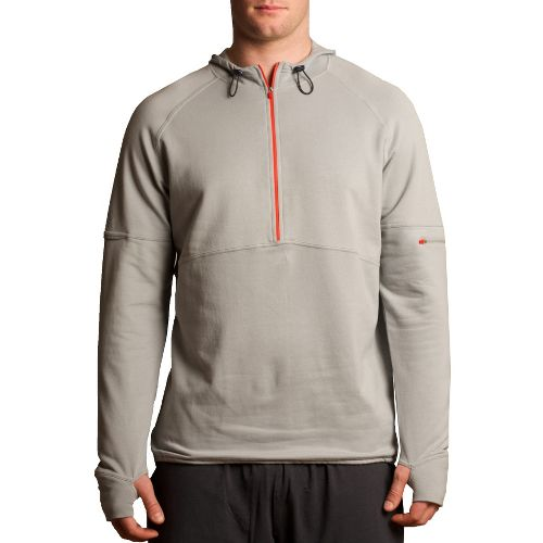 Mens Tasc Performance Bound 1/2-Zip Fleece Hoodie Warm-Up Hooded Jackets - Storm XXL