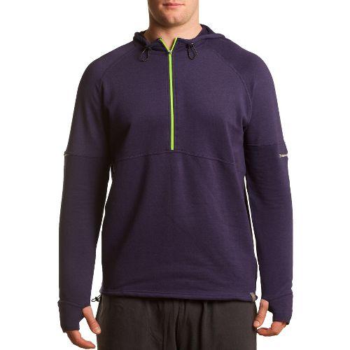 Mens Tasc Performance Bound 1/2-Zip Fleece Hoodie Warm-Up Hooded Jackets - True Navy M