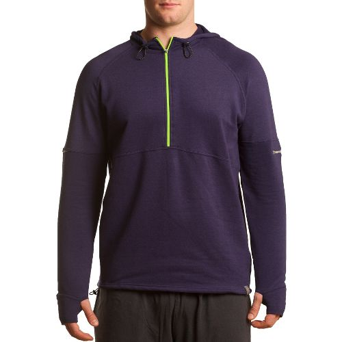 Mens Tasc Performance Bound 1/2-Zip Fleece Hoodie Warm-Up Hooded Jackets - True Navy XXL