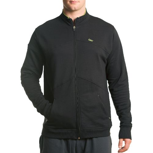 Mens Tasc Performance Peak Fleece Running Jackets - Black L