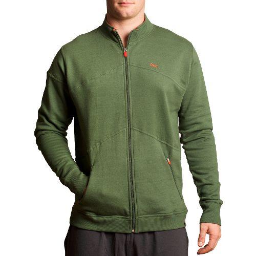 Mens Tasc Performance Peak Fleece Running Jackets - Thriv Green L