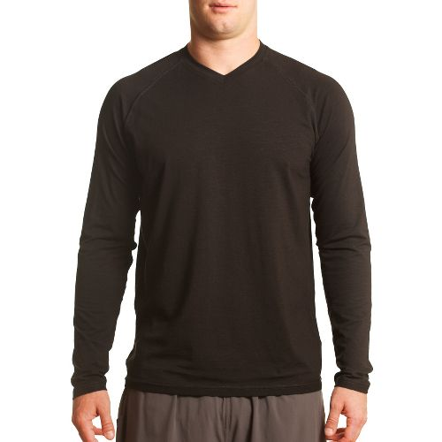 Mens Tasc Performance Clubhouse Long Sleeve No Zip Technical Tops - Black M