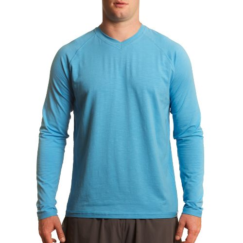 Mens Tasc Performance Clubhouse Long Sleeve No Zip Technical Tops - Blue Moon XL