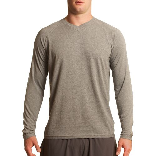 Mens Tasc Performance Clubhouse Long Sleeve No Zip Technical Tops - Heather Grey L