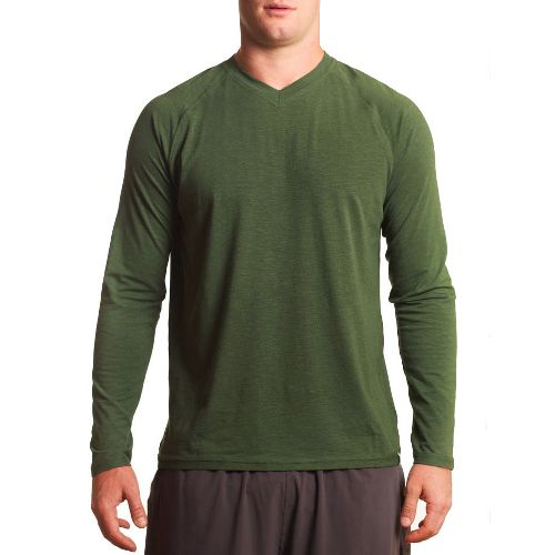 Mens Tasc Performance Clubhouse Long Sleeve No Zip Technical Tops - Thriv Green XXL
