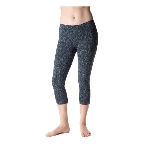 Womens Tasc Performance NOLA Crop Capri Tights - Granite Heather XL