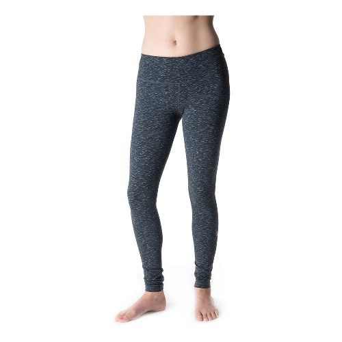 Womens Tasc Performance NOLA Legging Fitted Tights - Granite Heather L