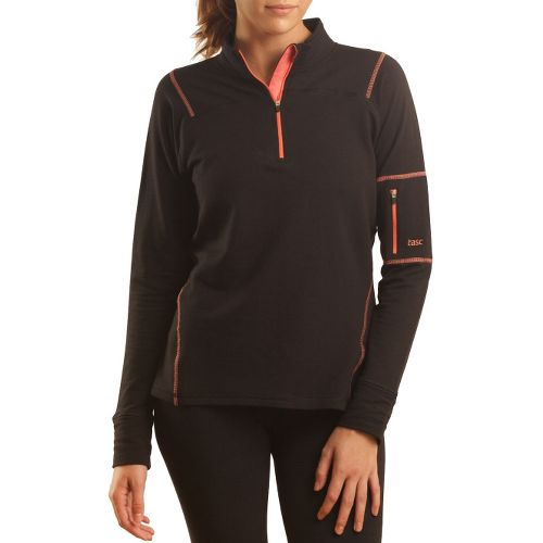 Womens Tasc Performance Contour Fleece 1/4-Zip Long Sleeve 1/2 Zip Technical Tops - ...