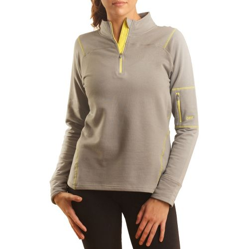 Womens Tasc Performance Contour Fleece 1/4-Zip Long Sleeve 1/2 Zip Technical Tops - Storm/Sun L ...