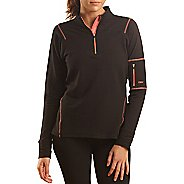 Womens Tasc Performance Contour Fleece 1/4-Zip Long Sleeve 1/2 Zip Technical Tops