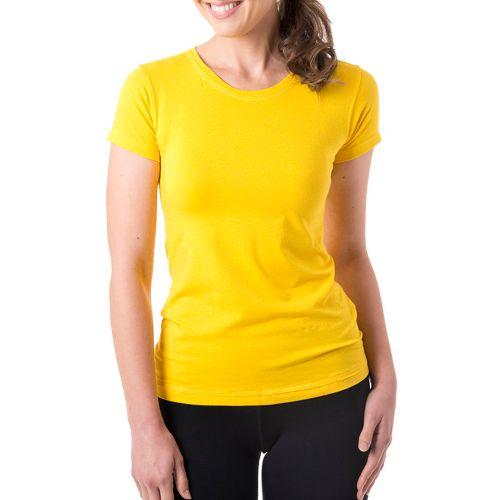 Womens Tasc Performance Mardi Gras Krewe Short Sleeve Technical Tops - Honey Lemon L