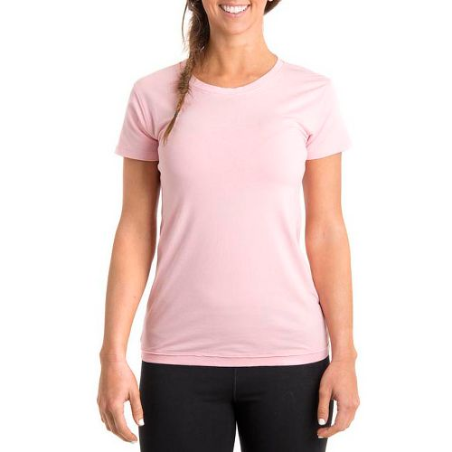 Womens Tasc Performance Mardi Gras Krewe Short Sleeve Technical Tops - Petal Pink M