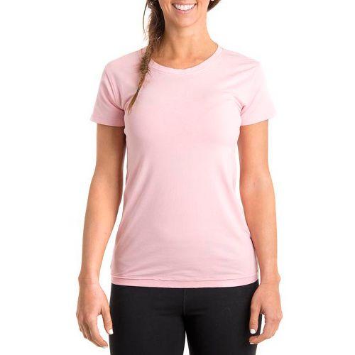 Womens Tasc Performance Mardi Gras Krewe Short Sleeve Technical Tops - Petal Pink XS