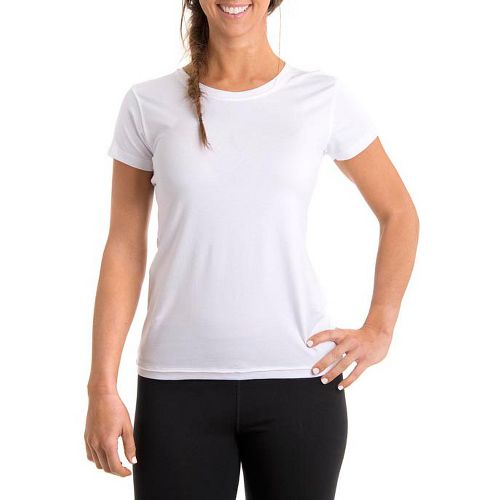 Womens Tasc Performance Mardi Gras Krewe Short Sleeve Technical Tops - White M