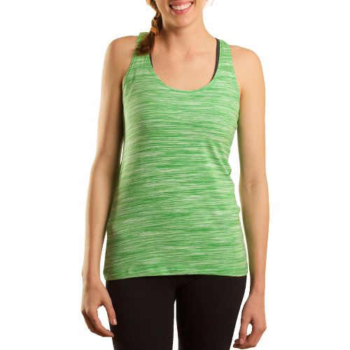 Womens Tasc Performance Streak Racer Tanks Technical Tops - Sprout Streak S