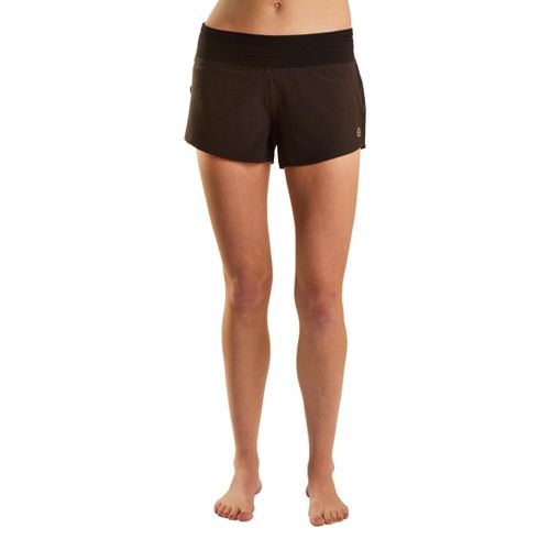 Womens Tasc Performance Magnolia Lined Shorts - Black XS