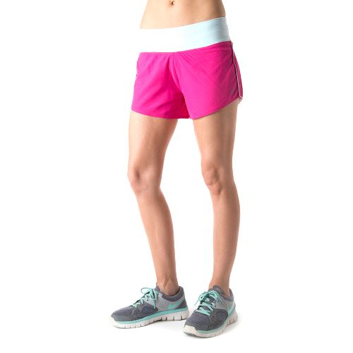 Womens Tasc Performance Magnolia Lined Shorts - Fruit Punch/Ice Blue L