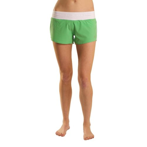 Womens Tasc Performance Magnolia Lined Shorts - Mojito/White S