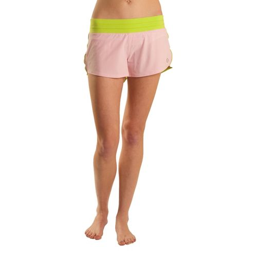 Womens Tasc Performance Magnolia Lined Shorts - Petal Pink/Sprout XS