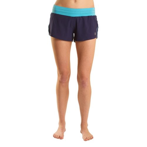 Womens Tasc Performance Magnolia Lined Shorts - True Navy/Surf's Up S