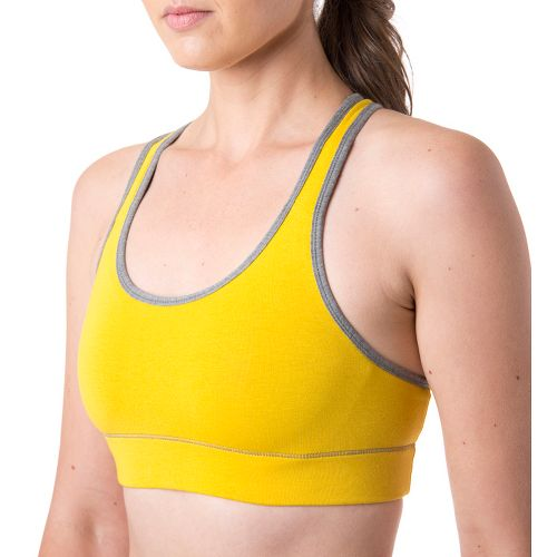Womens Tasc Performance Endurance Sports Bras - Honey Lemon/Heather Grey XL