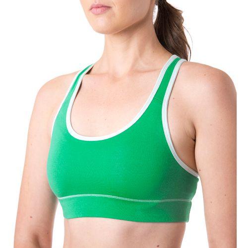 Womens Tasc Performance Endurance Sports Bras - Rainforest/Ice Blue XL