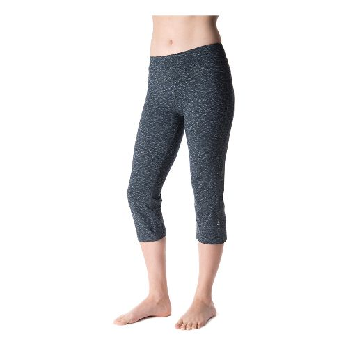 Womens Tasc Performance WOW Fitted Capri Pants - Granite heather XL