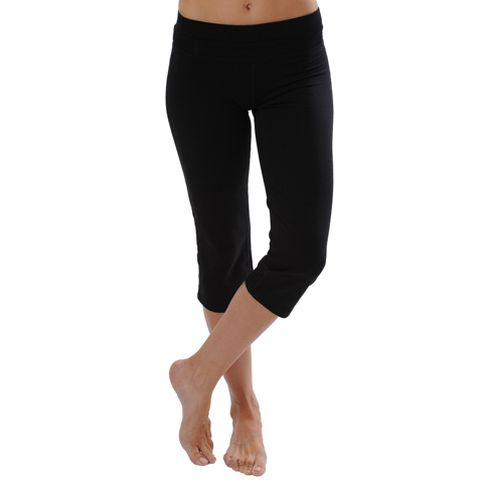 Womens Tasc Performance WOW Fitted Capri Pants - Granite heather XL
