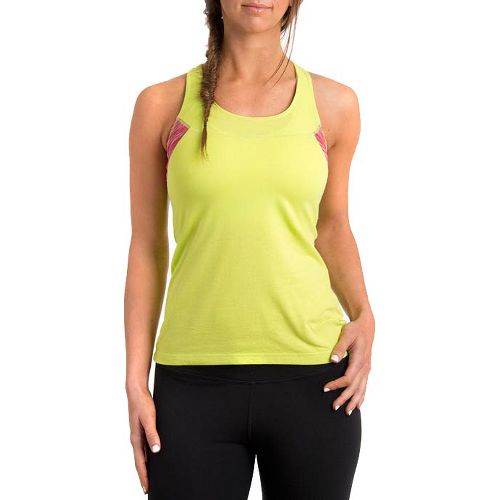 Womens Tasc Performance Audubon Racer Singlets Technical Tops - Sprout/Watermelon XS