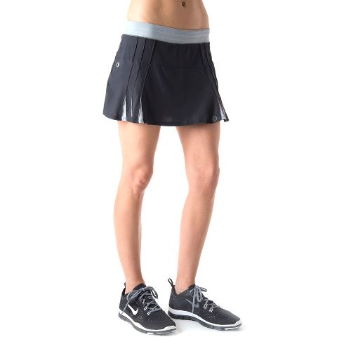 Womens Tasc Performance Shebang Skort Fitness Skirts - Black/Storm L