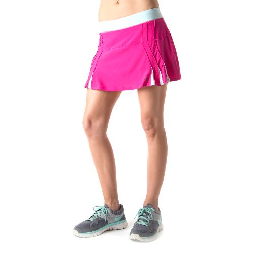 Womens Tasc Performance Shebang Skort Fitness Skirts - Fruit Punch/Ice Blue M