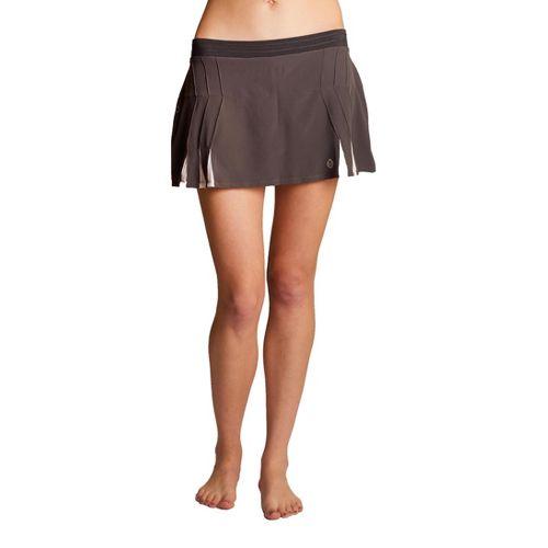 Womens Tasc Performance Shebang Skort Fitness Skirts - Gunmetal/White M