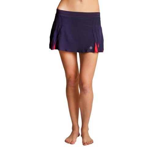 Womens Tasc Performance Shebang Skort Fitness Skirts - True Navy/Watermelon XL