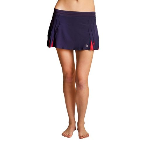 Womens Tasc Performance Shebang Skort Fitness Skirts - True Navy/Watermelon XS