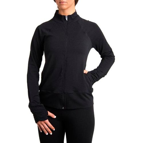 Womens Tasc Performance Pop Running Jackets - Black/Stainless Steel XL
