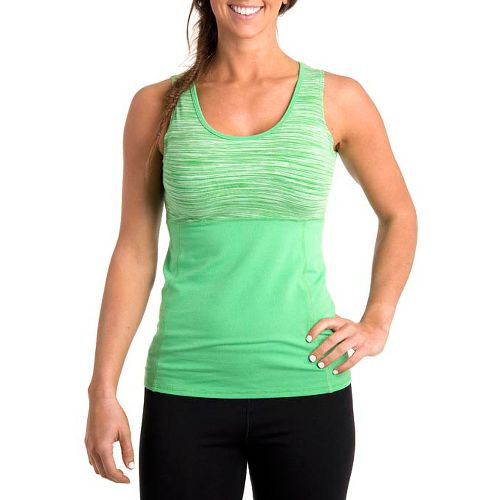Womens Tasc Performance Hot Stuff Tanks Technical Tops - Sprout Streak/Mojito M