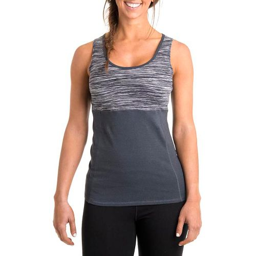 Womens Tasc Performance Hot Stuff Tanks Technical Tops - Storm Streak/Gunmetal S