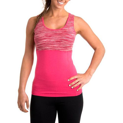 Womens Tasc Performance Hot Stuff Tanks Technical Tops - Watermelon Streak/Watermelon XS