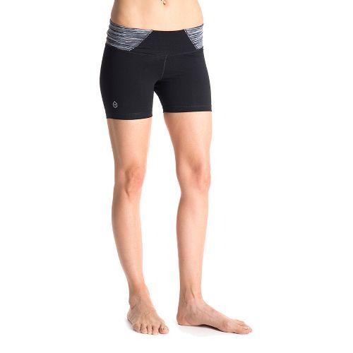 Womens Tasc Performance Hot Stuff Lined Shorts - Black/Storm Streak L