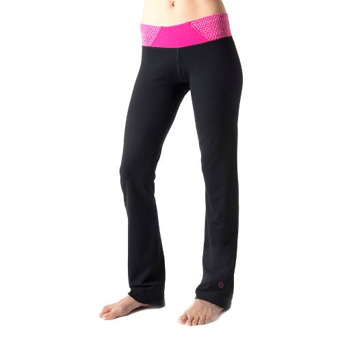 Womens Tasc Performance Hot Stuff Full Length Pants - Black/Fruit Punch XL