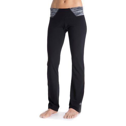 Womens Tasc Performance Hot Stuff Full Length Pants - Black/Storm Streak L