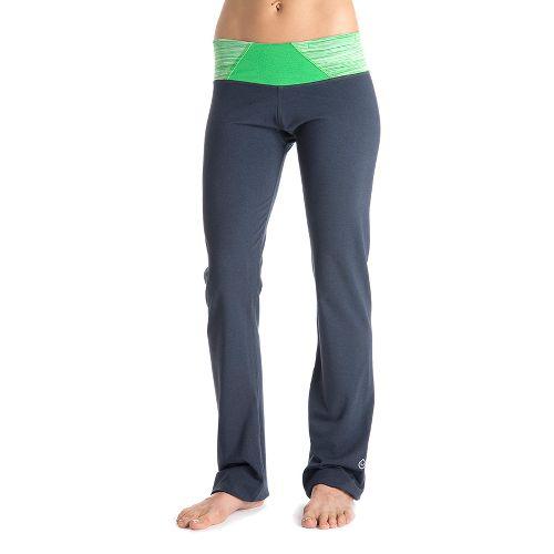 Womens Tasc Performance Hot Stuff Full Length Pants - Gunmetal/Sprout Streak L