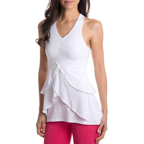 Womens Tasc Performance Twirl Cami Sport Top Bras - White L