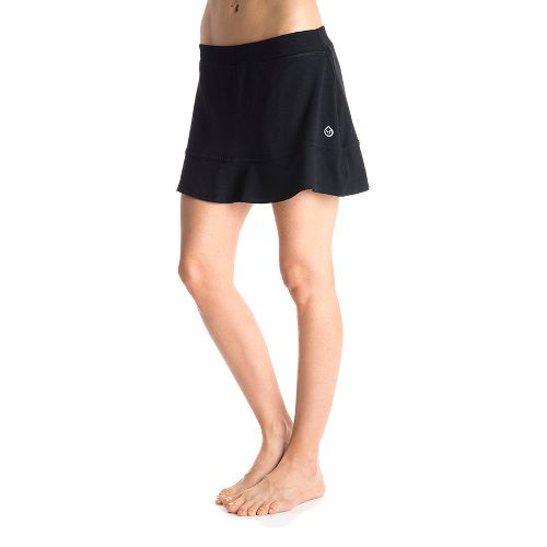 Womens Tasc Performance Shimmy Skort Fitness Skirts - Black/Black L