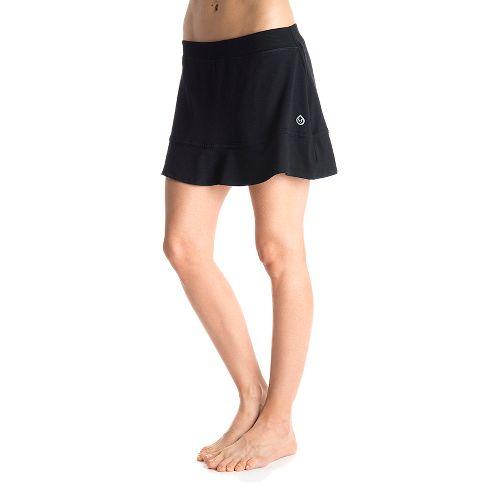 Womens Tasc Performance Shimmy Skort Fitness Skirts - Black/Black S