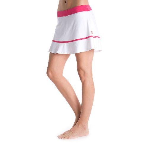 Womens Tasc Performance Shimmy Skort Fitness Skirts - White/Watermelon L
