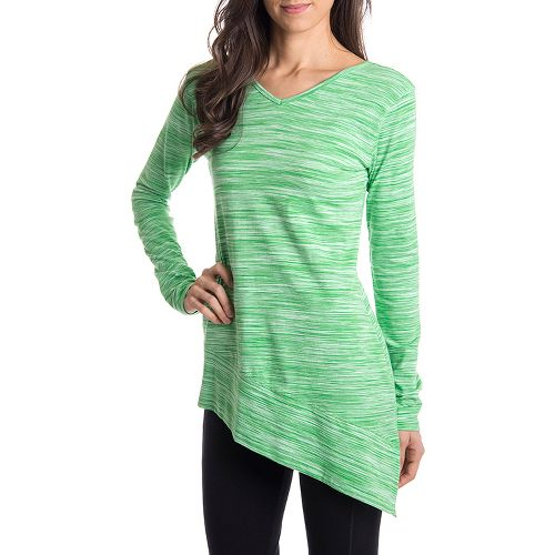 Womens Tasc Performance Swing Tunic Long Sleeve No Zip Technical Tops - Sprout Streak L ...
